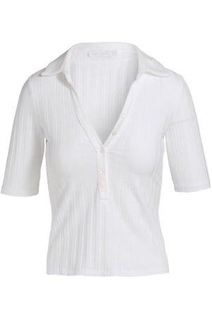 JONATHAN SIMKHAI Terri Compact Ribbed Polo Shirt