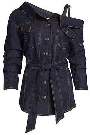 Cinq A Sept Skyler Asymmetric Denim Shirt-Jacket
