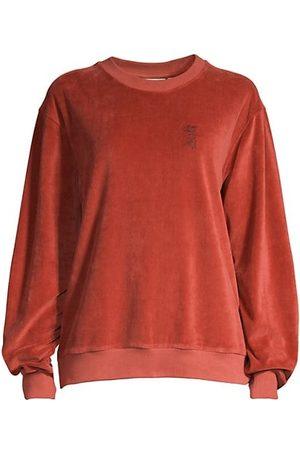 Les Girls Les Boys Women Sweatshirts - Velour Crewneck Sweatshirt