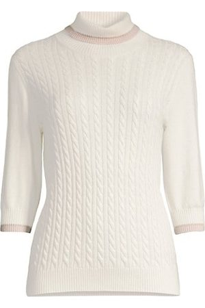 D.EXTERIOR Women Jumpers - Cabled Turtleneck Sweater