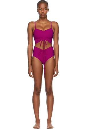 Women Swimsuits - Christopher Esber Pink Ruched Disconnect One-Piece Swimsuit