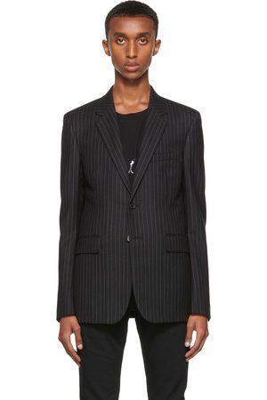 Men Blazers - Saint Laurent Flannel Rive Gauche Stripe Blazer