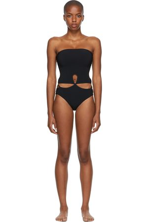 Women Swimsuits - Christopher Esber Looped Adjustable Strapless One-Piece Swimsuit