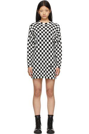 Women Casual Dresses - Kenzo & White Check Jumper Dress