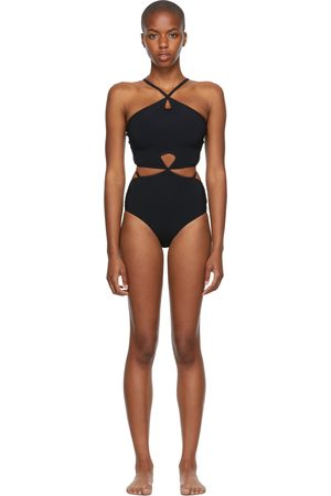 Women Swimsuits - Christopher Esber Looped Halter One-Piece Swimsuit