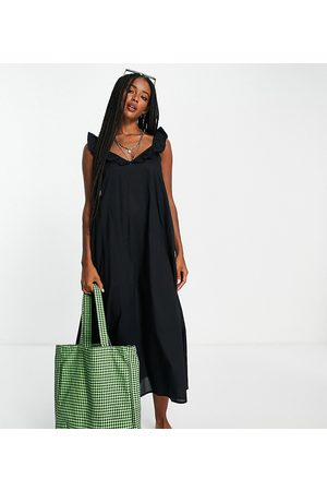 ONLY Women Casual Dresses - Exclusive midi beach dress with frill detail in