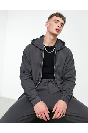 ASOS Co-ord oversized zip up hoodie in washed