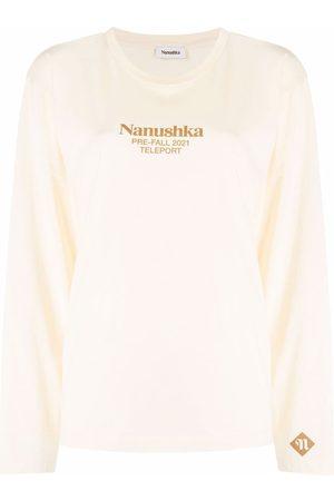 Nanushka Long-sleeved logo T-shirt