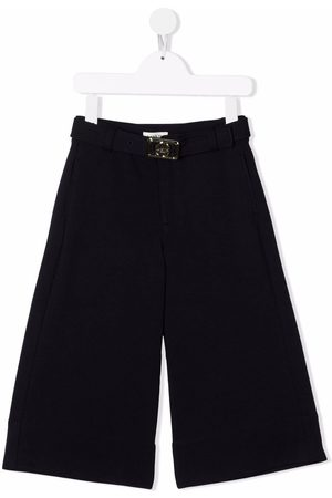 Lanvin Girls Formal Pants - Buckle-detail tailored trousers