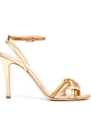 Etro Metallic-effect braided-strap sandals
