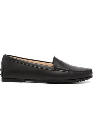 Tod's Round-toe polished-finish loafers