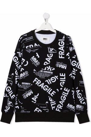 MM6 KIDS Girls Sweatshirts - TEEN Fragile-print cotton sweatshirt
