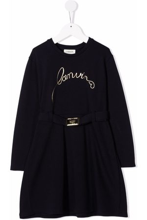 Lanvin Logo-embroidered knitted dress