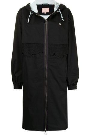 BAPY Women Parkas - Floral-embroidered parka coat