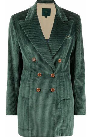 JEJIA Women Blazers - Corduroy double-breasted blazer