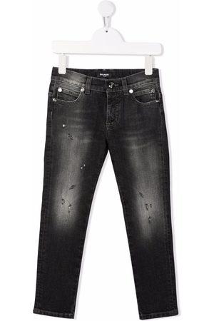 Balmain Slim-cut faded jeans