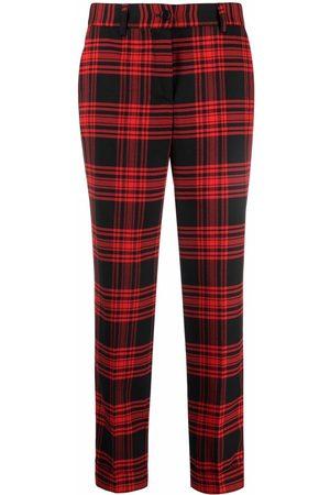 P.a.r.o.s.h. Plaid-check print trousers