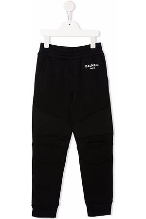 Balmain Boys Pants - Logo-print track pants