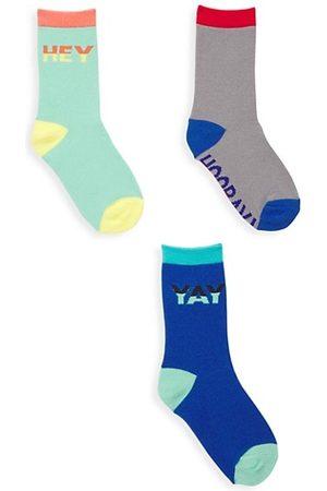 Saks Fifth Avenue Socks - Little Kid's & Kid's Three-Pack Colorblock Crew Socks