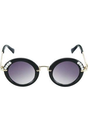 Bari Lynn Girls Sunglasses - Girl's Faux Pearl Round Sunglasses