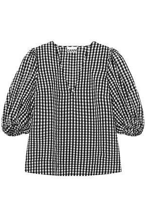Ganni Seersucker Check Shirt
