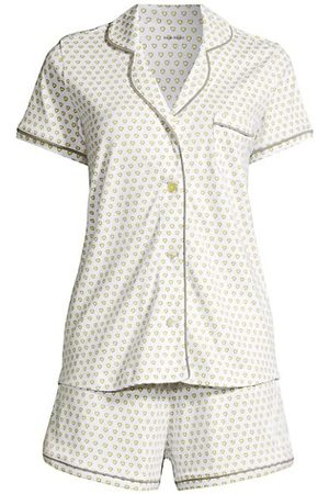 Roller Rabbit 2-Piece Hearts Polo Pajama Set