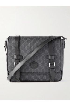 Gucci Men Bags - Leather-Trimmed Monogrammed Coated-Canvas Messenger Bag