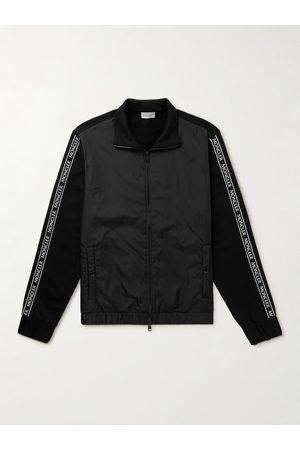 Moncler Logo-Appliquéd Cotton-Jersey and Shell Track Jacket