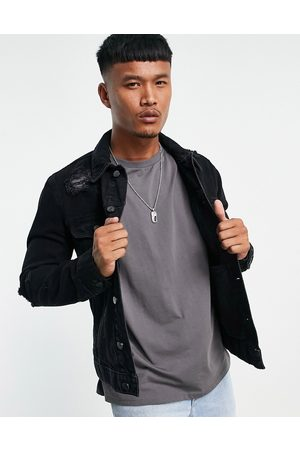 ASOS Denim jacket with rips in