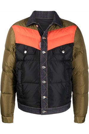 Dsquared2 Men Jackets - Contrast buttoned padded jacket