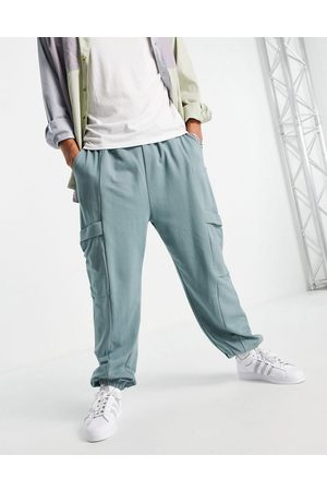 ASOS Men Joggers - Oversized joggers with pocket detail in blue