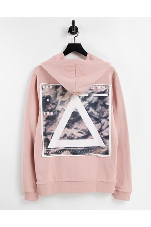 ASOS Unrvlld Spply Men Sweatshirts - Hoodie with graphic triangle back print & chest logo