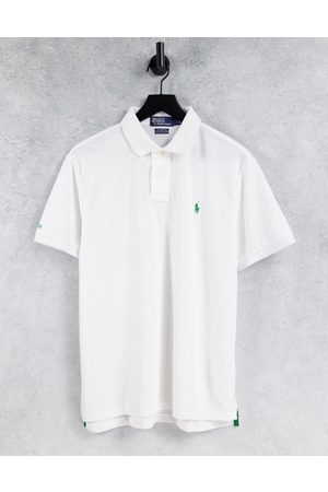 Polo Ralph Lauren Men Polo Shirts - Earth recycled pique polo contrast collar/cuff custom regular fit in