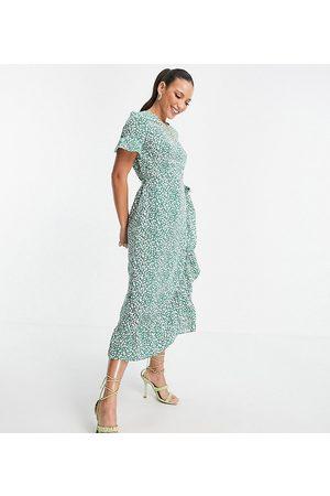 VERO MODA Midi frill tea dress in spot