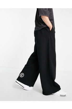 ASOS Oversized heavyweight wide leg jogger with print in