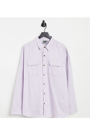 Reclaimed Men Casual - Inspired relaxed overshirt in lilac