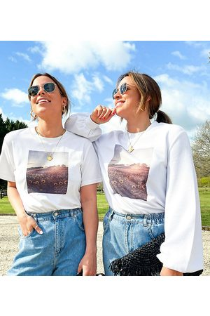 Labelrail Women Sweatshirts - X Collyer Twins relaxed sweatshirt with sunflower graphic print