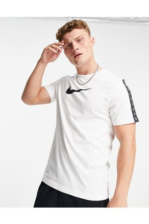 Nike Repeat taping t-shirt with swoosh logo in