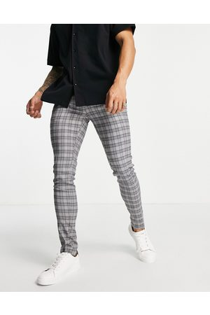 Devils Advocate Co-ord super skinny fit checked trousers