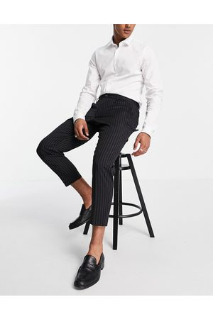 Harry Brown Relaxed fit pinstripe trousers