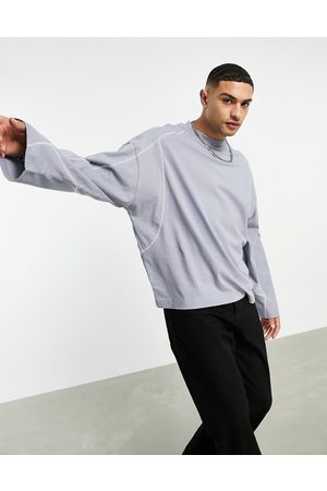 ASOS Oversized long sleeve t-shirt in pique with seaming detail in