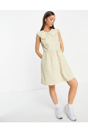 VILA Women Casual Dresses - Check mini dress with oversized collar-Multi
