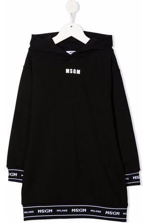 Msgm Logo-tape hooded dress