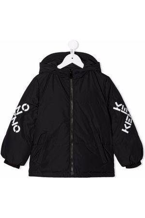 Kenzo Boys Bomber Jackets - Logo-print sleeve jacket