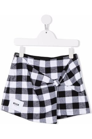 Msgm Gingham check print skirt