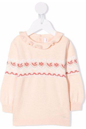 Chloé Baby Jumpers - Fair isle intarsia knit jumper