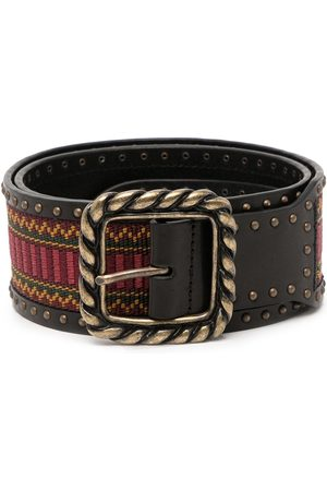 Dsquared2 Women Belts - Embroidered leather belt