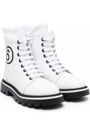 MM6 KIDS Lace-up leather boots