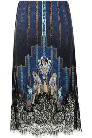 Camilla Dripping In Deco silk skirt