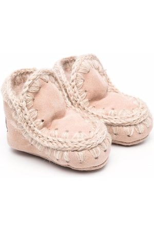 Mou Knitted border boots